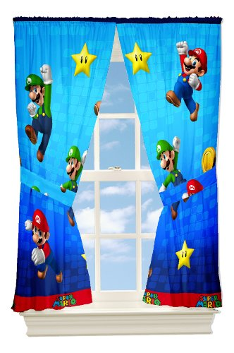 Nintendo Super Mario and Friends Drapes, 82 by 63-Inch - 1