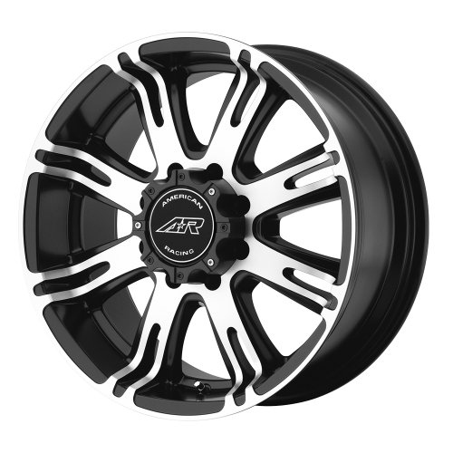 American Racing Custom Wheels AR708 Matte Black Wheel With Machined Accents (18x9