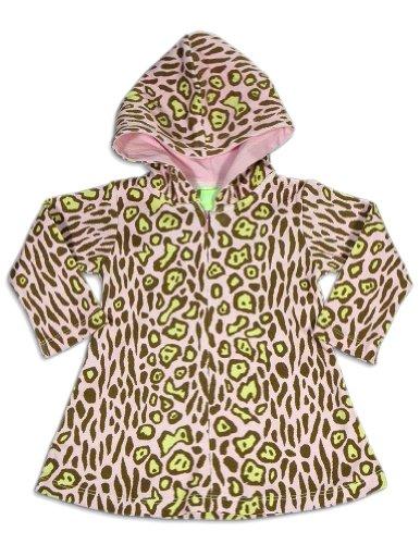 Snopea - Baby Girls Long Sleeve Leopard Hoodie Dress, Pink, Brown 25823-9Months front-625229