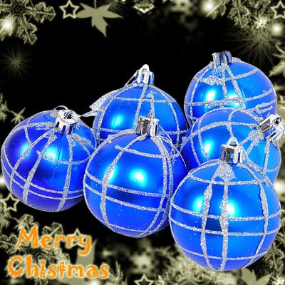 CHRISTMAS TREE Decoration 6 Pack 60mm Ball Bauble