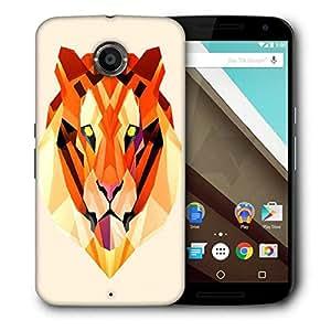 Snoogg Polygon Tiger 2896 Designer Protective Back Case Cover For Motorola Nexus 6