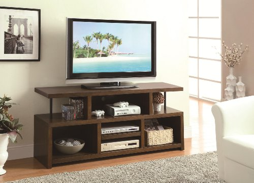 Cheap 44″ Tv Stand Entertainment Center in Brown By Coaster (B008XLPTEK)