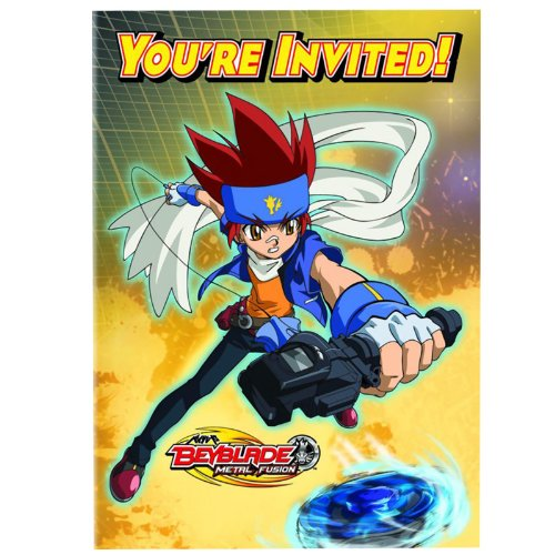 Beyblade Invitations w/ Envelopes (8ct) (Beyblade Birthday Supplies compare prices)