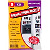"Set Of 5 Freez-A-Frame, Magnetic 4"" x 6"" Photo Frame. Made in USA"