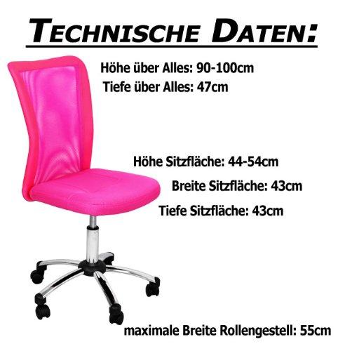 test miganeo premium kinderstuhl pink rosa drehstuhl f r. Black Bedroom Furniture Sets. Home Design Ideas