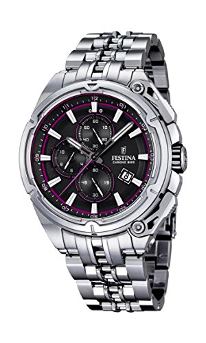 Festina F16881/6 - Reloj de pulsera hombre, Acero inoxidable, color Plateado