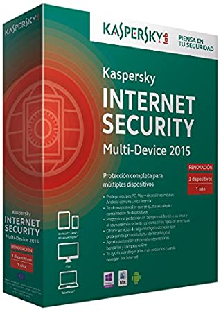 Kaspersky Internet Security Multi-Device 2015 - Software De Seguridad, 3 Usuarios, Edición Renovación