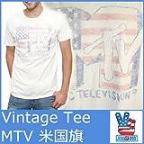 (ジャンクフード)JUNK FOOD MTVアメリカ国旗 半袖丸首T/シュガー 5046