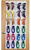 Attmu White Crystal Collection Over the Door Shoe Organizer, Shoe Storage Bag, Shoe Rack, Shoe Storage Rack