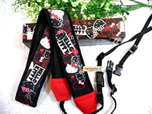 Authentic Hello Kitty Canon Nikon Sony DSLR SLR Digital Camera Neck Shoulder Strap Generic Black
