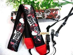 Licensed Hello Kitty Canon Nikon Sony DSLR SLR Digital Camera Neck Shoulder Strap Generic Black