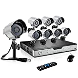 ZMODO 16Channel DVR Home Security Camera Systemwith 8pcs 600TVL Day/Night Weatherproof Hi-Resolution CCTV Surveillance Cameras No Hard Drive