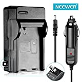 NEEWER® AC Wall Charger with In-Car Charger Adapter for Nikon EN-EL14 Battery Compatible with Nikon Coolpix P7000, P7100, D3100, D3200, D5100 SLR Cameras