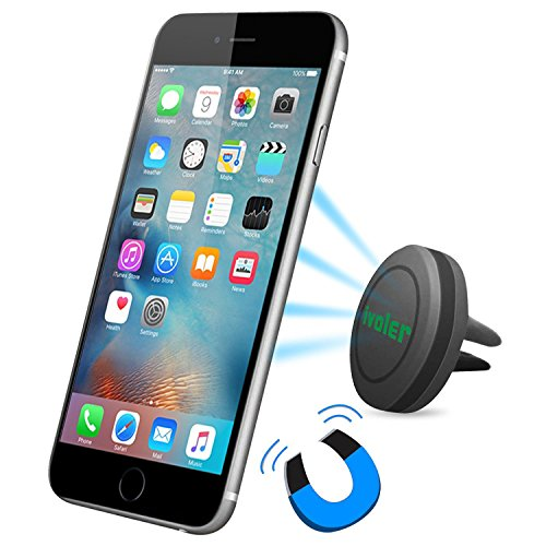 Car Mount, iVoler Air Vent Magnetic Universal Car Phone Holder for iPhone 6/6S Plus Nexus 6P 5X, Galaxy S6/S6 Edge, Note 5, LG G4 & Most Cell Phones, Mini Tablet (Magnetic Air Vent)