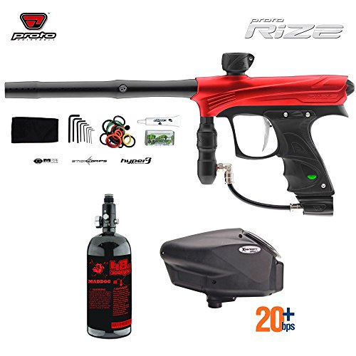 Proto Rize HPA Paintball Gun Package - Red Dust (Dye Proto Hopper compare prices)