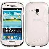 Silikon Hülle Samsung Galaxy S3 Mini - Clear / Transparent - S-Style TPU i8190 PhoneNatic S 3 SIII Mini glänzend Case Silikon Cover Hülle Schutzhülle + Schutzfolie