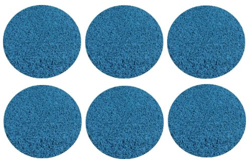 "Set 6 Children'S Crazy Carpet Circle Seats - Bright Circus Blue 18"" Round Rug Mats front-1069378"
