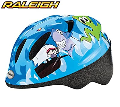 Raleigh Rascal Junior Boys Cycle Helmet - Blue Pirates - XX Small (44-50cm) by Raleigh