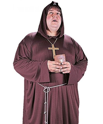 Mememall Fashion Mens Friar Tuck Medieval Monk Costume Robe Big and Tall XL Plus Size