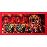 Bm Traders Shivaji Rajabhishek With Red Border Unframed Sparkle Wall Sticket Poster (Vinyl 20 X 40 Inches)
