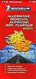 echange, troc Michelin - Allemagne, Benelux, Autriche, République Tchèque : 1/1 000 000