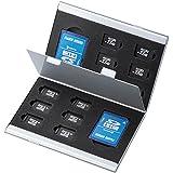 サンワサプライ アルミメモリーカードケース(microSDカード用・両面収納タイプ) FC-MMC5MICN