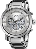 Akribos XXIV Mens AK622SS Grandiose Chronograph Quartz Stainless Steel Bracelet Watch