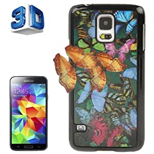 3D Effects Style Butterfly Pattern Plastic Case for Samsung Galaxy S5 G900