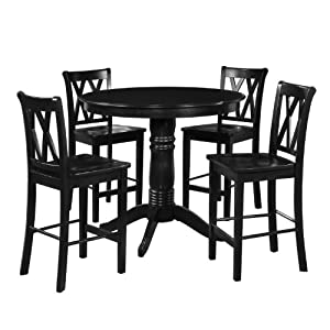 5 piece 42 round table and tall chair for Kitchen set in amazon