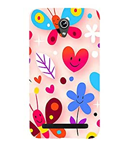 Happy Wallpaper 3D Hard Polycarbonate Designer Back Case Cover for Asus Zenfone Go ZC500TG (5 Inches)