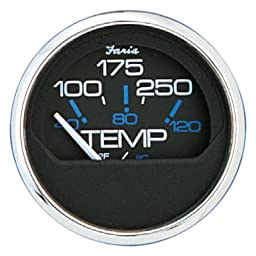 Faria 13704 Chesapeake Black 100-250°F Water Temp Gauge