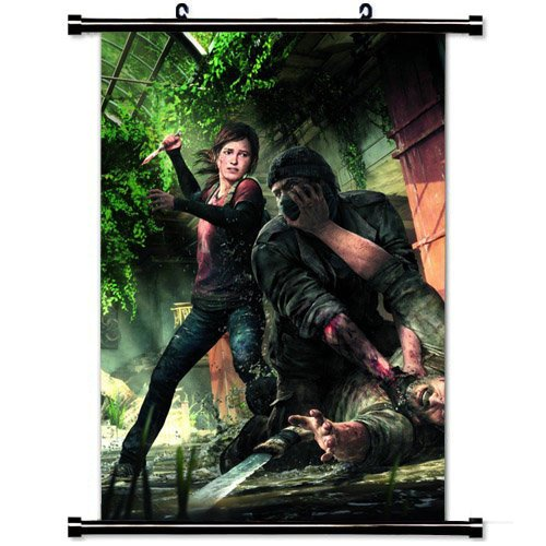 Wall Scroll Poster with The Last Of Us Naughty Dog Playstation Joel Ellie Wrestling Knife Machete Home Decor Wall Posters