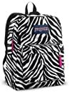 JANSPORT SUPERBREAK BACKPACK SCHOOL BAG  Black white Pink Zebra
