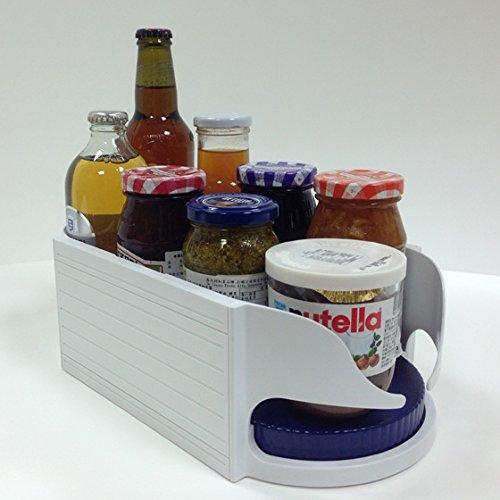 キャディーくるくる大/小2種類 こちらは大(奥行き30cm幅17cm高さ10cm)缶ビール,500mlペットボトル等のサイズの物に最適