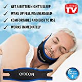 Gideon Adjustable Anti-Snoring Chin Strap - Instant Stop Snoring Solution - Natural Snore Relief - Fast and Simple [UPGRADED VERSION]
