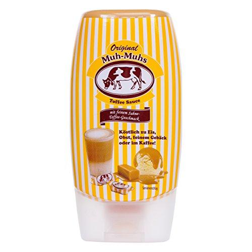 Sauce au Caramel Toffee Original Muh-Muhs, Sirop, Flacon Souple de 14 cl