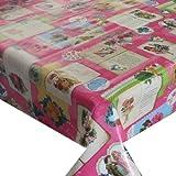 Wachstuch Breite & Länge wählbar - dcfix Engel Pink Rosa Bunt 3854594 - ECKIG 140 x 920 bzw. 920x140 cm abwaschbare...