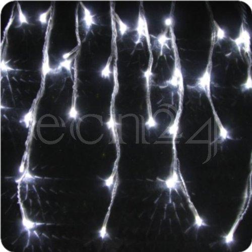 LED Eiszapfen Lichterkette - Schneefall-Effekt 8m kaltweiss