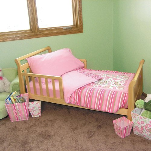 Trend Lab Baby Trend Lab Toddler Bed 4Pc Bedding Set - Paisley, Pink, 100% Cotton, Toddler