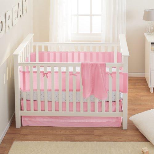 breathablebaby safety crib bedding set pink mist 3