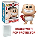 Captain Underpants Funko Pop Movies Vinyl Action Figure + Pop Protector (Tamaño: 3.75 inches)