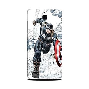 Xiaomi Mi 4 Designer Printed Case & Covers (Xiaomi Mi 4 Back Cover) - Superhero Captain America
