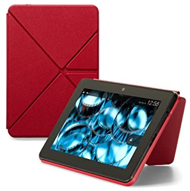 "Amazon Kindle Fire HDX Standing Leather Origami Case (will only fit Kindle Fire HDX 7""), Red"