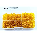 BRCbeads Yellow Jade Natural Gemstone Loose Beads Round Value Box Set 340pcs Per Box for Jewelry Making (Plastic Container is Included)-4,6,8,10mm (Color: Yellow Jade, Tamaño: 4mm;6mm;8mm;10mm)