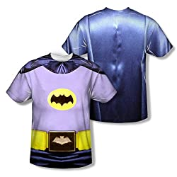 Batman Classic TV Batman Costume All Over Print Front / Back T-Shirt