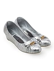 CATBIRD Women Silver Synthetic Leather Wedges 1056