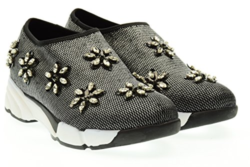 UMA PARKER donna sneaker bassa 708-5 Nero 38 Nero