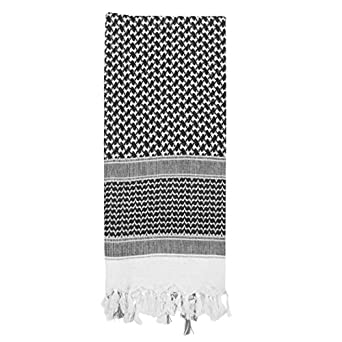 SHEMAGH TACTICAL DESERT SCARF, Black/White