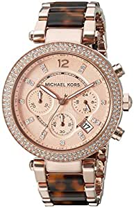 Michael Kors Women's MK5538 Parker Brown Crystal-Accented