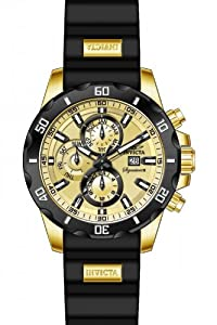 Invicta Signature II Gold-tone Dial GMT Stainless Steel Mens Watch 7481